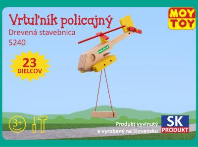 Vrtulnik policajny, policajna helikoptera drevene stavebnice